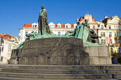 Statue of Jan Hus Stock Photos
