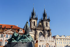 Statue of jan Hus Stock Photography