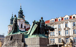 Statue of jan Hus Stock Images