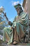 Statue of Jan Hus, an element of the Martin Luther Monument in Worms, Germany Royalty Free Stock Images