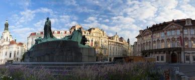 Statue of Jan Huss Stock Photo
