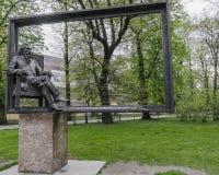 Statue of Jan Matejko Royalty Free Stock Photos