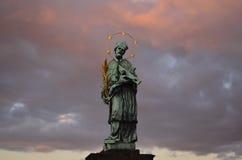 Statue of Jan Nepomucky Stock Photos
