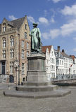 Statue of Jan van Eyck Stock Images