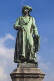 Statue of Jan Van Eyck. In Bruges, Belgium Stock Photos