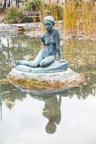 Statue in Japanese garden, Budapest Royalty Free Stock Photos