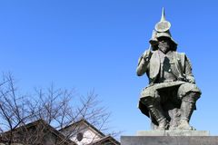The statue of a Japanese Warrior ? at one park close to Nagoya stock image