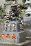 Statue japonaise de dragon dans un temple de Shinsho, Narita, Japon Photos stock
