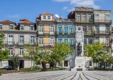 Statue at the Jardim de Carlos Alberto in Porto Stock Photo