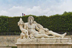 A statue in Jardin des Tuileries. Stock Images