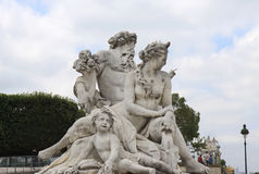 Statue at Jardin des Tuileries Royalty Free Stock Photography