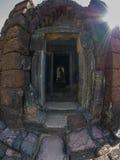 Statue of Jayavarman VII at Phimai historical park. Royalty Free Stock Photos
