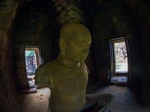 Statue of Jayavarman VII at Phimai historical park. Stock Photo