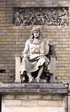 Statue of Jean Baptiste Colbert in the front of Assemblee nationale in Paris stock photography