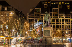 Statue of Jean Baptiste Kleber in Strasbourg Stock Images