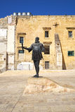 The statue of Jean Parisot De Valette on Pjazza Jean de Valette,. VALLETTA, MALTA - JULY 24, 2015: The view of statue of Jean Parisot De Valette - the founder of Royalty Free Stock Photo