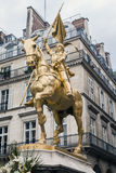 Statue of Jeanne d'Arc Royalty Free Stock Images