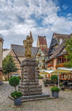 Statue of Jeanne d`Arc,Eguisheim, Alsace, France Royalty Free Stock Image