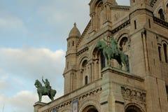Statue of jeanne d`arc and louis IX, Paris Royalty Free Stock Image