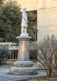 Statue Jefferson Davis, das verbündete Kriegs-Denkmal in Dallas, Texas lizenzfreies stockfoto
