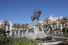 Statue in Jerez de la Frontera, Spain Stock Photography