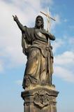 Statue of Jesus. On Charles Bridge in Prague Royalty Free Stock Image