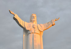 Statue of Jesus with arms wide open Stock Image