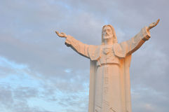 Statue of Jesus with arms wide open Royalty Free Stock Photo