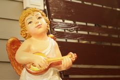 Statue of Jesus as a child in the church. Royalty Free Stock Photo