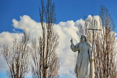Statue of Jesus in blessing Royalty Free Stock Photos