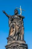 Statue of Jesus on Charles Bridge Royalty Free Stock Images