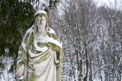 Statue of Jesus Christ. At Rasu cemetery in Vilnius, Lithuania Stock Image