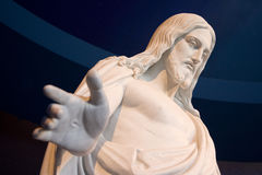 Statue of Jesus Christ. Close up of stone statue of Jesus Christ royalty free stock photo