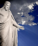 Statue of Jesus Christ. With hands outstretched Stock Photography