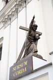 Statue of Jesus Christ Bearing His Cross. Grodno, Belarus Royalty Free Stock Photography