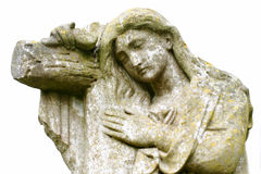 Statue of Jesus Christ in cemetery Stock Images