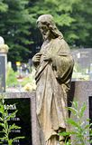 Statue of Jesus Christ in a cemetery Stock Photos