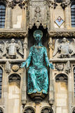 Statue of Jesus on the Christ Church Gate of Canterbury Cathedra. Canterbury, UK: The statue of Jesus on the Christ Church Gate to Canterbury Cathedral Royalty Free Stock Photography