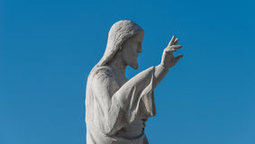 Statue of Jesus Christ at church of Notre Dame de la Garde, Mars Royalty Free Stock Photo