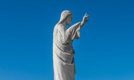 Statue of Jesus Christ at church of Notre Dame de la Garde, Mars Stock Photo
