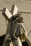 Statue of Jesus Christ with the cross Stock Photo
