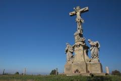 Statue of Jesus Christ on a cross. Horizontally. Stock Photos