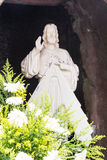 Statue of Jesus Christ in grotto of a Catholic Church Stock Photos