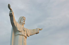 Statue of Jesus Christ with open arms Royalty Free Stock Photography