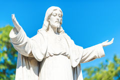 Statue of Jesus Christ opening his arms Stock Image