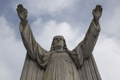 Statue Jesus Christ with raised arms Stock Image