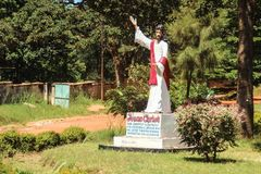 Statue of Jesus Christ in a small park in Lusaka stock photo