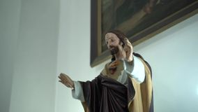 Statue of Jesus in the church