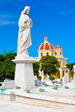 Statue of Jesus in the Colon cemetery in Ha Royalty Free Stock Photos