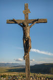 Statue of Jesus on the Cross Royalty Free Stock Photos